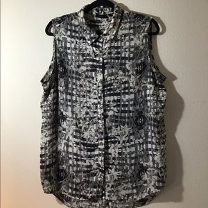 Sleeveless Button-up Blouse by Apt.9
